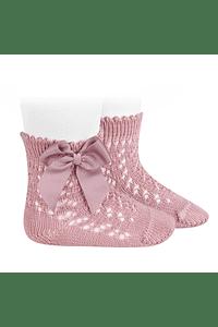 Calcetines cortos de Perle calados con lazo