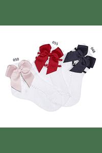 Calcetines cortos de Perle calado lateral con lazo