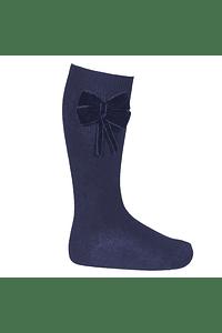 Calcetines altos con lazo terciopelo