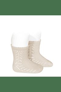 Calcetines cortos calado lateral