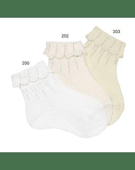Calcetines tobilleros puno vuelto mallas cargadas