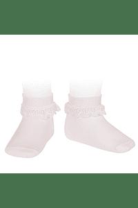 Calcetines tobilleros Canale y puno vuelto con puntilla
