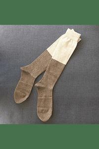 Calcetines altos bicolor - MUJER