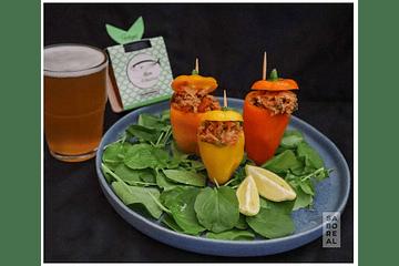 Mini-pimentos com Saboreal