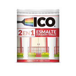 Esmalte icomax negro 1/4 galón - Ico