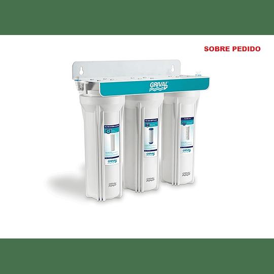 Filtro agua 3 etapa bajo mesón - Grival