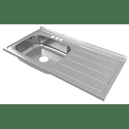 Lavaplatos radiante 100x52 izquierdo mezclador - Socoda