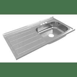 Lavaplatos radiante 100x52 derecho mezclador - Socoda
