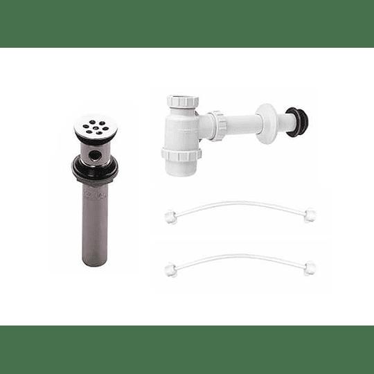 Kit desagüe sencillo con sifón botella mas 2 griflex - Grival