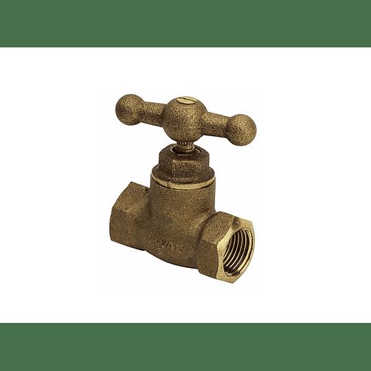 Llave de paso 1/2 pulgada bronce - Grival