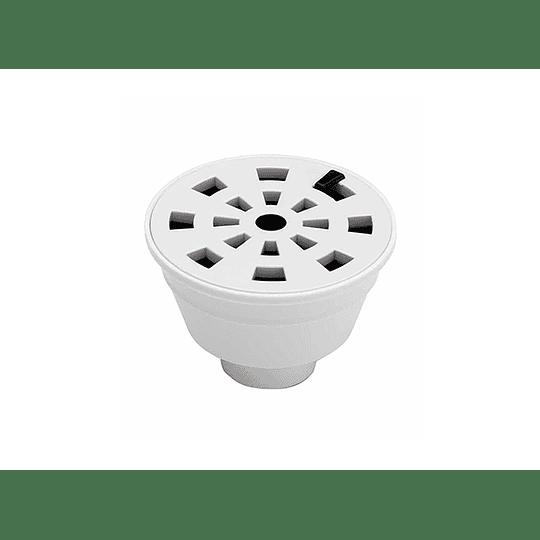 Rejilla de piso redonda blanca - Grival