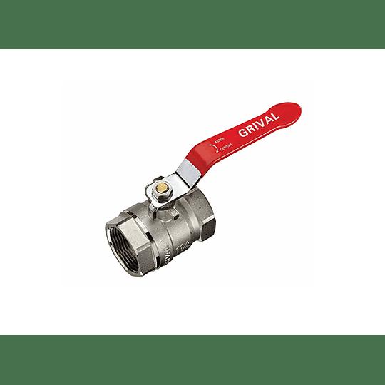 Válvula bola 1/2PLG agua - Grival