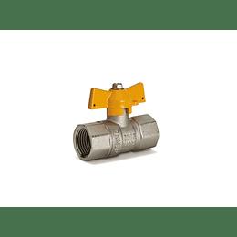 Válvula de Bola Gas Trocable 1/2 Pulgada - Grival