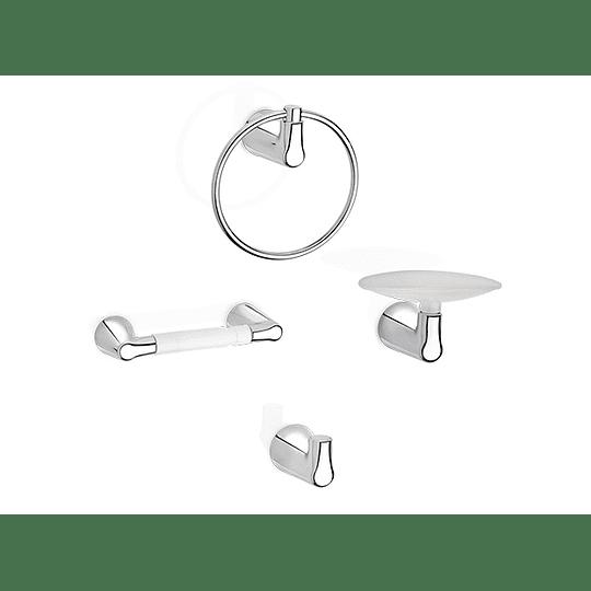 Accesorios nogal kit por 4 piezas - Grival