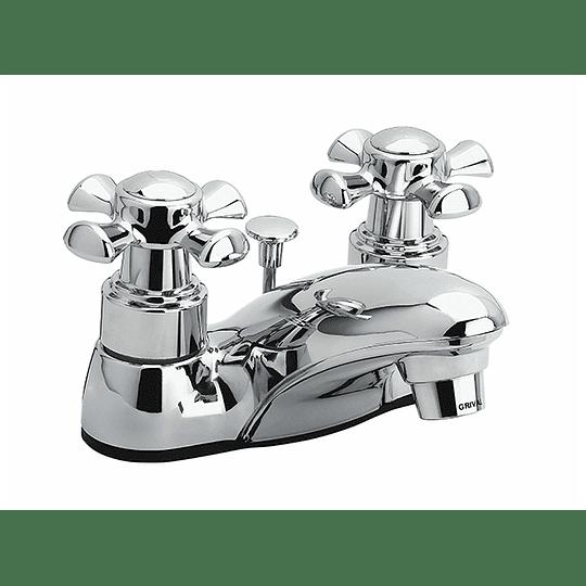 Grifería lavamanos balta cruceta 4 pulgadas - Grival