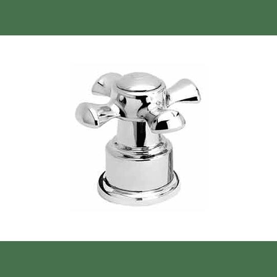 Manija balta cruceta lavamanos agua caliente - Grival