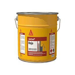 Sika® Antisol® rojo base agua de 20 kg