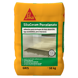 SikaCeram® porcelanato blanco de 50 Kg