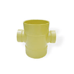"Tee sanitaria doble reducida 4"" x 3"" - Celta"