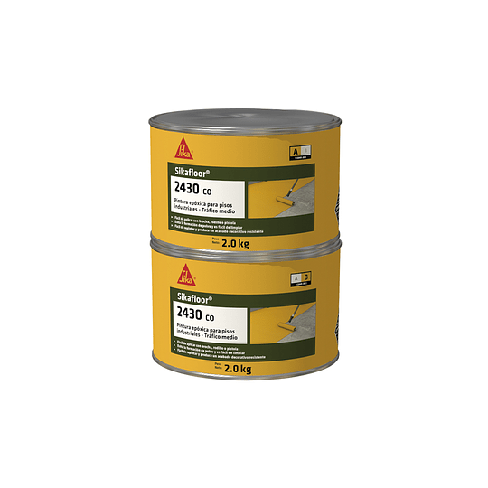 Sikafloor®-2430 CO amarillo de 4 kg