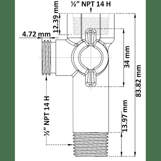 Desviador plástico largo - Gricol