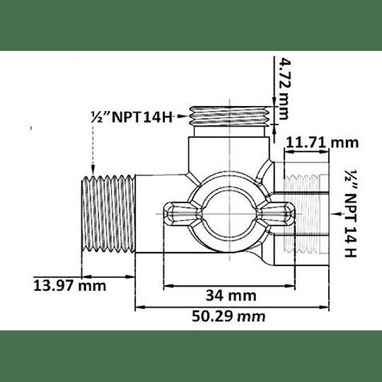 Desviador plástico corto - Gricol