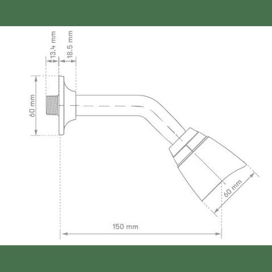 Regadera móvil plástica - Gricol