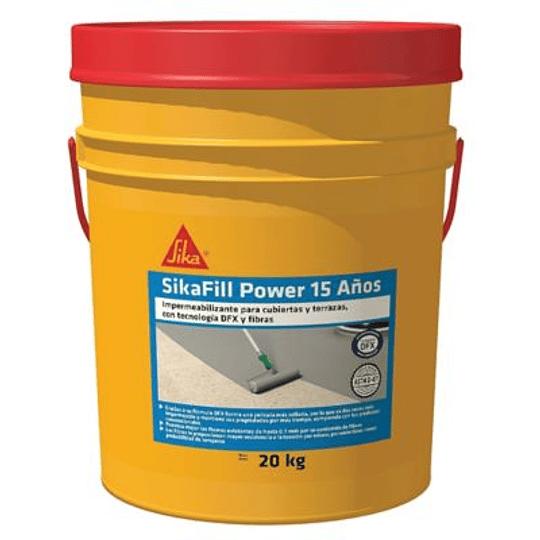 SikaFill Power 15 Años gris de 20 kg