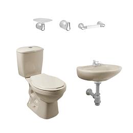 Combo laguna 4.8 balta bone con lavamanos sin pedestal con asiento - Corona