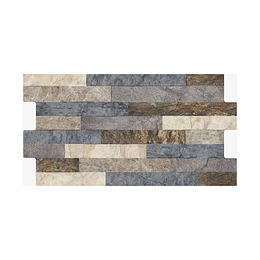 Fachaleta tunjo multicolor caras diferenciadas - 34,5x62 cm - caja: 1.71 m2 - Corona