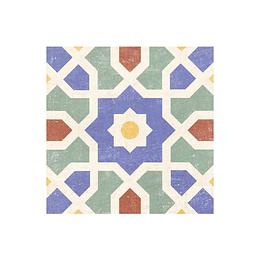 Cuadrado malik multicolor cara única - 19.8x19.8 cm - unidad - Corona