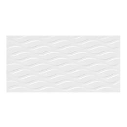 Pared estructurada eco blanco cara única - 30x60 cm - caja: 1.44 m2 - Corona