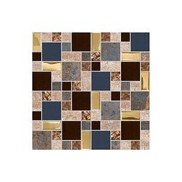Mosaico wayu multicolor cara única - 30x30 cm - unidad - Corona
