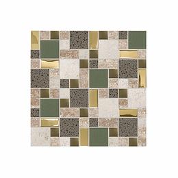 Mosaico muisca verde cara única - 30x30 cm - unidad - Corona