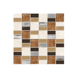 Mosaico desértico café cara única - 30x30 cm - unidad - Corona