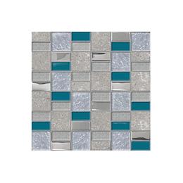 Mosaico desértico azul cara única - 30x30 cm - unidad - Corona