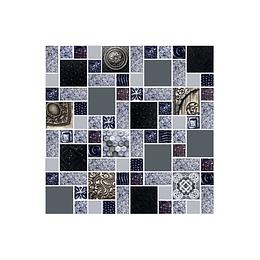 Mosaico valquiria negro cara única - 30x30 cm - unidad - Corona