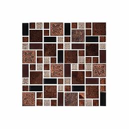 Mosaico terra ocre cara única - 30x30 cm - unidad - Corona