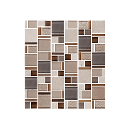 Mosaico terra gris cara única - 30x33 cm - unidad - Corona