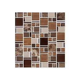 Mosaico terra café cara única - 30x33 cm - unidad - Corona