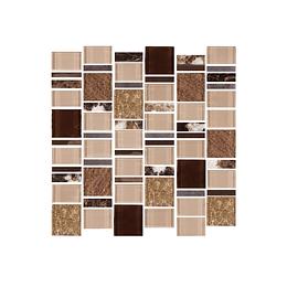 Mosaico terra beige cara única - 29.8x30.8 cm - unidad - Corona