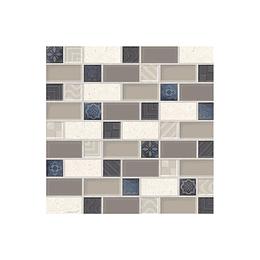 Mosaico retro taupe cara única - 30x30 cm - unidad - Corona