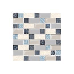 Mosaico retro azul cara única - 30x30 cm - unidad - Corona