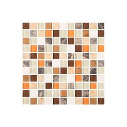 Mosaico cetus multicolor cara única - 27.6x27.6 cm - unidad - Corona