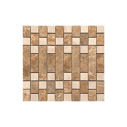 Mosaico filosofal multicolor cara única - 31x33 cm - unidad - Corona