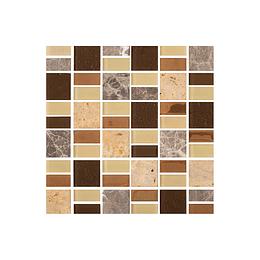 Mosaico indus multicolor cara única - 30x30 cm - unidad - Corona