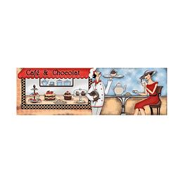 Listón chocolat multicolor cara única - 13.5x43 cm - unidad - Corona