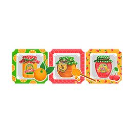 Listón confitura multicolor cara única - 13.5x43 cm - unidad - Corona