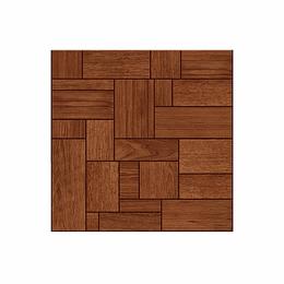 Piso madera lapacho terracota cara única - 45.8x45.8 cm - caja: 1.89 m2 - Corona