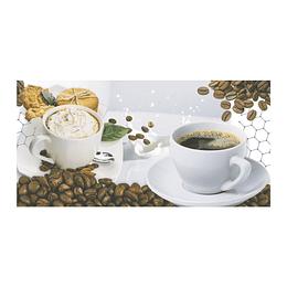 Base decorada dulce café multicolor cara única - 30x30 cm - unidad - Corona